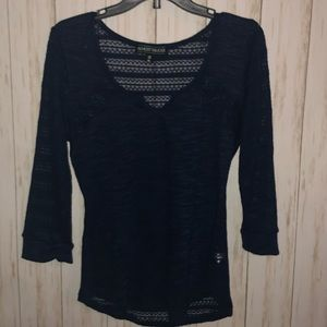 Tops - Almost Famous Knit see thru top XL JR blue